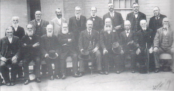 The is no known photo of Crane but he is probably present in the front row of this photo. Fifth from the left is Sir Arthur Renwick