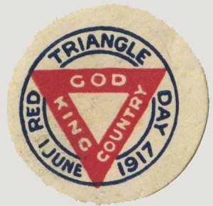 Red Triangle Day Badge