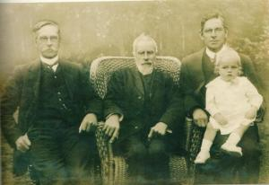 Four generations of the Reeve Family in 1913