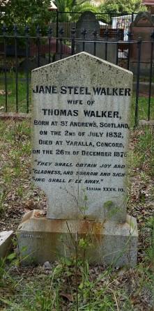 Jane Steel Walkers Grave