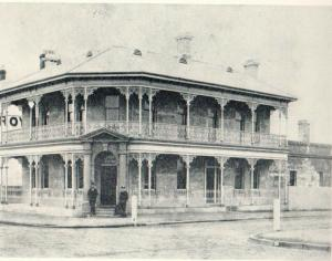 Bank of NSW Singleton , 1884 (Photo Credit R.F. Holder)