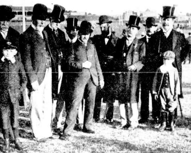John Sidney (5th adult from the left) at the 1902 Benevolent Society Fete and Agricultural Show
